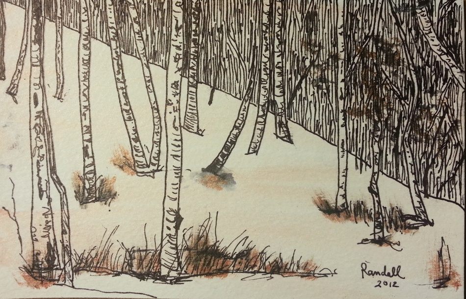 """Snowy Slope"" for Twitter Art Exhibit 3"