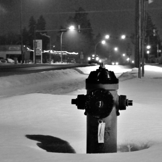 Fire Hydrant in the Night