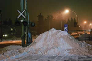 Snow Pile by the Crossing